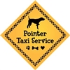 "Pointer Taxi Service Magnet 9"" - YPT22-9"