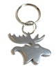 Bison Designs Silver Moose Keychain - Bottle Opener