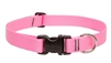 "Lupine Basic Solids 1"" Pink 12-20"" Adjustable Collar for Medium and Larger Dogs"