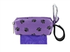 Doggie Walk Bags - Purple with Black Paws Square Duffel