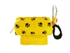 Doggie Walk Bags - Yellow with Black Paws Square Duffel
