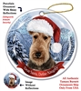 Airedale Holiday Ornament - Made in the USA