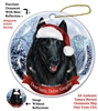 Belgian Sheepdog Holiday Ornament - Made in the USA