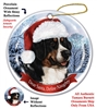 Bernese Mountain Dog Holiday Ornament - Made in the USA