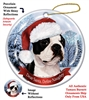 Boston Terrier Holiday Ornament - Made in the USA