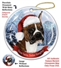 Boxer (Cropped) Brindle Holiday Ornament - Made in the USA