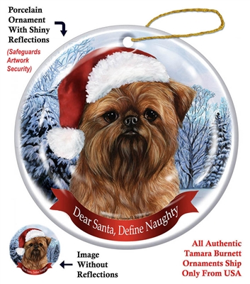 Brussels Griffon Holiday Ornament - Made in the USA