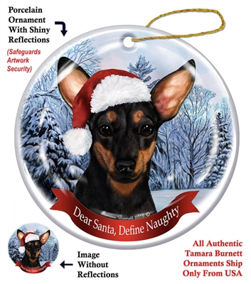 Chiweenie (Black & Tan) Holiday Ornament - Made in the USA
