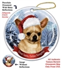 Chihuahua Holiday Ornament - Made in the USA
