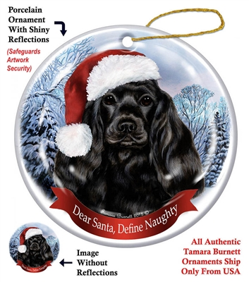 Cocker Spaniel (Black) Holiday Ornament - Made in the USA