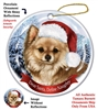 Chihuahua (Longhair Fawn) Holiday Ornament - Made in the USA