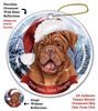 Dogue de Bordeaux Holiday Ornament - Made in the USA