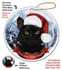 Black Cat Holiday Ornament - Made in the USA