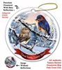 Eastern Blue Bird Holiday Ornament - Made in the USA