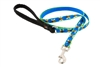 "Retired Lupine 1/2"" Blue Bees 4' Padded Handle Leash"