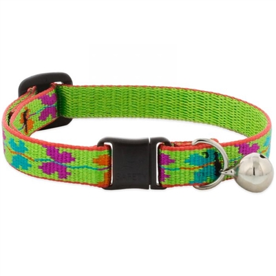 "Retired Lupine 1/2"" Butterfly Cat Safety Collar with Bell"