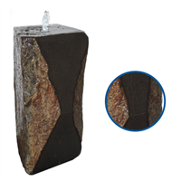 Hourglass One-Sided Polished Basalt