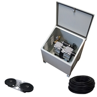 Savio2 Aeration System 1 (Includes Ground Enclosure) with 1/2HP Air Pump , Double Diffuser, 100' Weighted Tubing