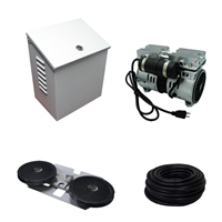 Savio2 Aeration System 1 (Includes Wall/Post Mount) with 1/2HP Air Pump , Double Diffuser, 100' Weighted Tubing