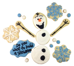 Do you want to build a snowman cookie gift box