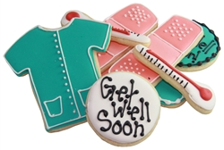 Get Well Soon Gift Box Sugar Cookies