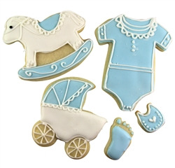Baby shower sugar cookies, new baby, welcome baby