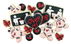 Anti Valentines Day, break up Sugar Cookies