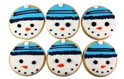 Snowmen Sugar Cookies