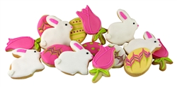 Bunny Tulip Decorated Egg Sugar Cookies