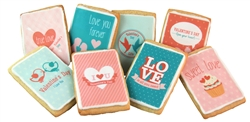 Valentine Card Sugar Cookies