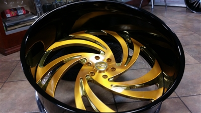 mtw gold twisted billet wheels