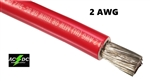 2 Gauge Battery Cable Marine Grade Tinned Copper (per ft) RED