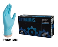 High Performance NITRILE GLOVES - BLUE 5 mil, Powdered