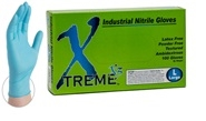 NITRILE GLOVES - BLUE 3 mil, NON-Powdered