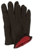 FLEECED LINED BROWN JERSEY GLOVE