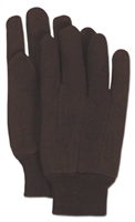 BROWN JERSEY GLOVE - KNIT WRIST