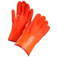 "12"" INSULATED ORANGE PVC GLOVES"