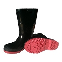 STORMTRACKS PVC KIDS' OVER-SOCK BOOTS - BLACK / RED
