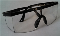 Casino Safety Glasses - Black Frame Clear Lens