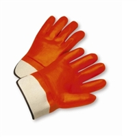 ORANGE PVC GLOVE - SAFETY CUFF