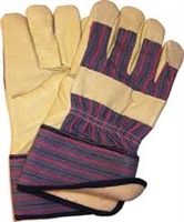 INSULATED PIGSKIN LEATHER PALM WORK GLOVES - SAFETY CUFF
