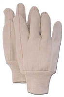 DOUBLE PALM 2-PLY COTTON GLOVES - KNIT WRIST