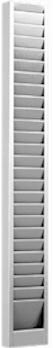 Stainless Steel, Employee Badge Rack, 25 pocket