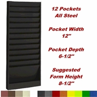 File Folder Rack, Model 202, 12 pocket