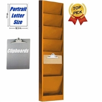 Clipboard Rack, Model 206, 6 Pocket