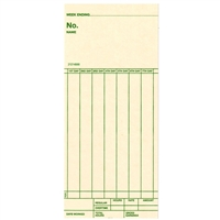 FORM 21214000 Time Cards