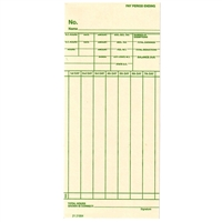 FORM 21214001 Time Cards