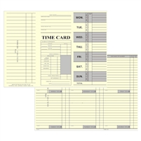 FORM 225 Time Cards