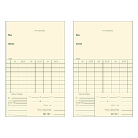 FORM 5525-2 Time Cards