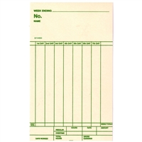 FORM 8214004 Time Cards